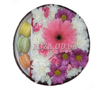 """""""Chrysanthemums with cakes"""" in the online flower shop roza.od.ua"""