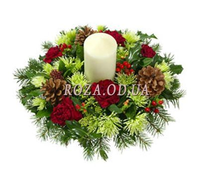 """Composition for Christmas"" in the online flower shop roza.od.ua"