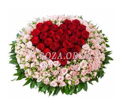 """Basket of 131 roses"" in the online flower shop roza.od.ua"