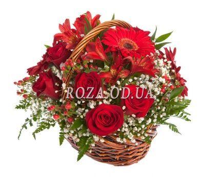 """Корзина из роз"" в интернет-магазине цветов roza.od.ua"