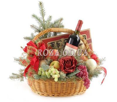 """""""Basket for the New Year"""" in the online flower shop roza.od.ua"""