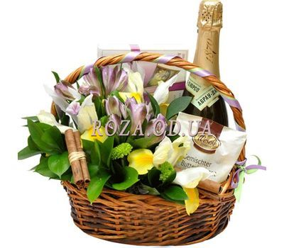 """Basket with flowers"" in the online flower shop roza.od.ua"