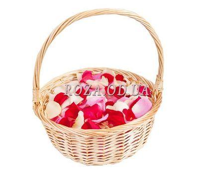 """""""Корзина с лепестками роз"""" в интернет-магазине цветов roza.od.ua"""