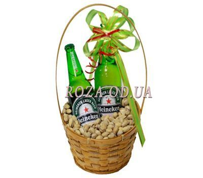 """Basket with beer"" in the online flower shop roza.od.ua"