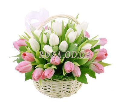 """Basket with tulips"" in the online flower shop roza.od.ua"