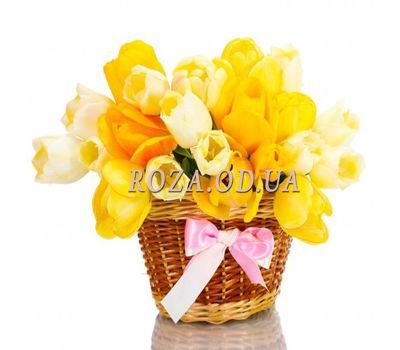 """Basket of tulips"" in the online flower shop roza.od.ua"