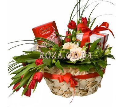 """Holiday basket"" in the online flower shop roza.od.ua"