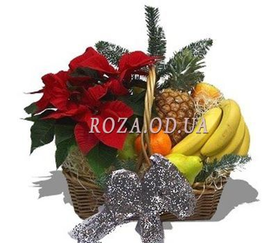 """""""Cart for the New Year"""" in the online flower shop roza.od.ua"""