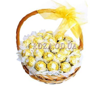 """Basket with Ferrero Rocher"" in the online flower shop roza.od.ua"