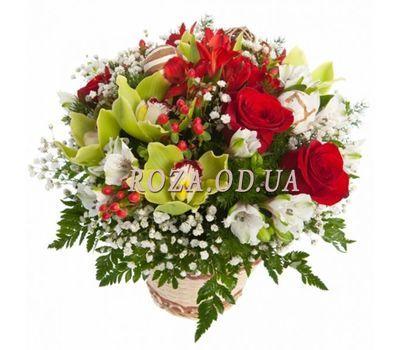 """Корзинка с розами и орхидеями"" в интернет-магазине цветов roza.od.ua"