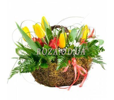 """""""Корзинка с тюльпанами"""" в интернет-магазине цветов roza.od.ua"""