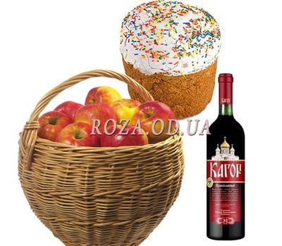 """Basket with apples for Easter"" in the online flower shop roza.od.ua"