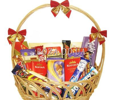"""Chocolate basket"" in the online flower shop roza.od.ua"