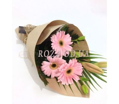 """Bouquet of lilies and gerberas"" in the online flower shop roza.od.ua"