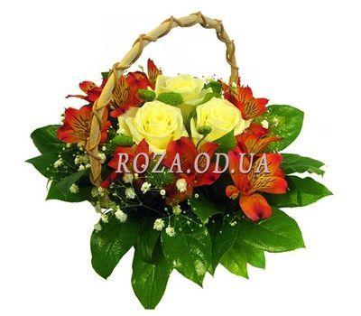 """""""Маленькая корзинка цветов"""" в интернет-магазине цветов roza.od.ua"""