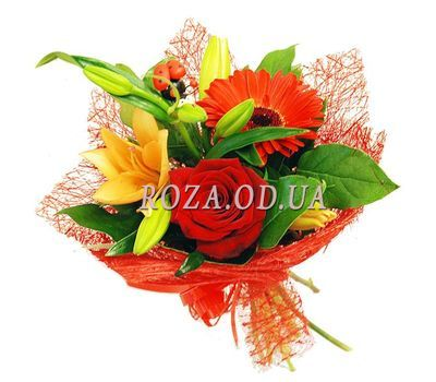 """A small bouquet of flowers"" in the online flower shop roza.od.ua"