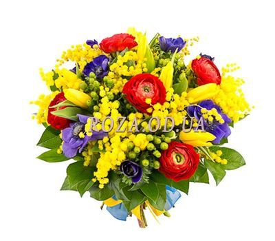 """""""Mimosa and Ranunculus"""" in the online flower shop roza.od.ua"""