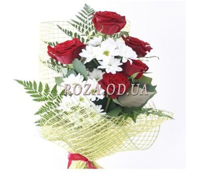 """Bouquet of roses and chrysanthemums"" in the online flower shop roza.od.ua"