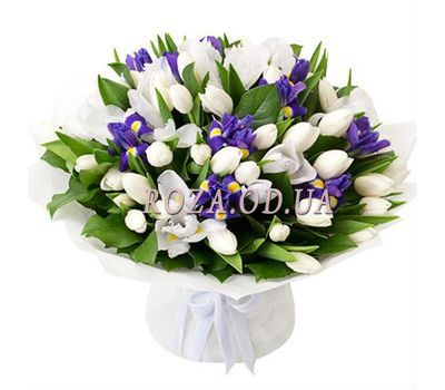"""Delicate bouquet with irises"" in the online flower shop roza.od.ua"