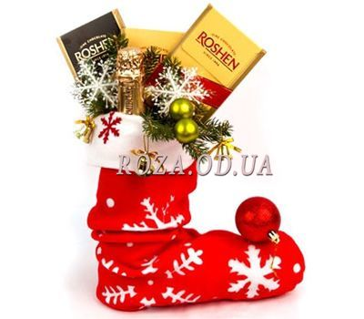 """""""New Years boot"""" in the online flower shop roza.od.ua"""