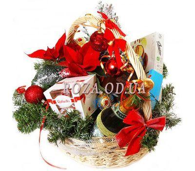 """""""Новогодняя корзина"""" в интернет-магазине цветов roza.od.ua"""