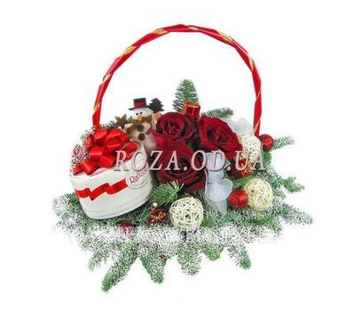 """Christmas basket"" in the online flower shop roza.od.ua"