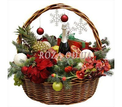 """""""Gift for the New Years table"""" in the online flower shop roza.od.ua"""
