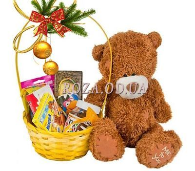 """""""Gift for the child for the New Year"""" in the online flower shop roza.od.ua"""