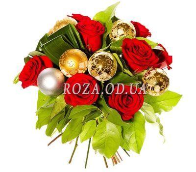 """""""Рождественский букет"""" в интернет-магазине цветов roza.od.ua"""