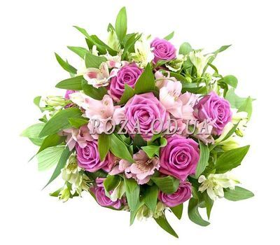 """""""Pink bouquet of flowers"""" in the online flower shop roza.od.ua"""
