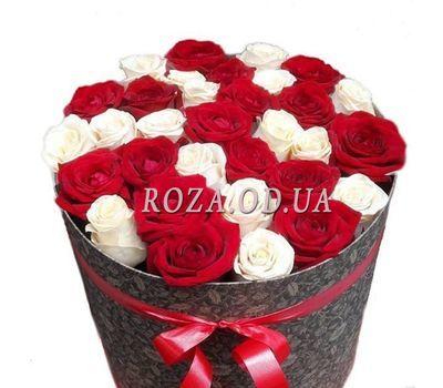 """""""Розы в шляпной коробке"""" в интернет-магазине цветов roza.od.ua"""