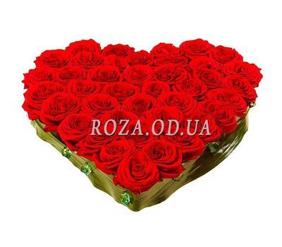 """""""Heart of 55 roses"""" in the online flower shop roza.od.ua"""