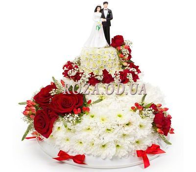 """Wedding cake from flowers"" in the online flower shop roza.od.ua"