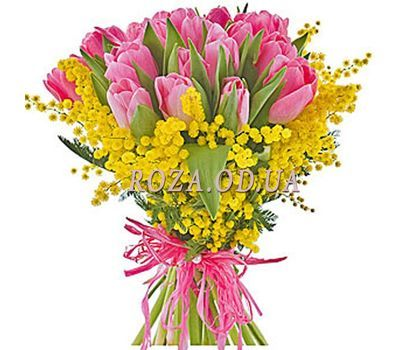 """Tulips and mimosa"" in the online flower shop roza.od.ua"