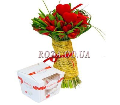 """Tulips for Valentine"" in the online flower shop roza.od.ua"