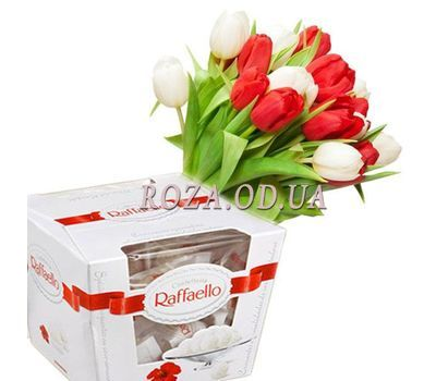 """Tulips with Raffaello"" in the online flower shop roza.od.ua"