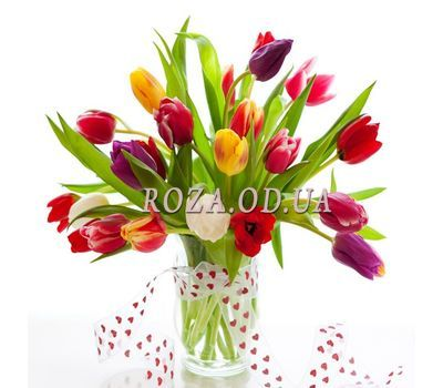 """""""Tulips in a vase"""" in the online flower shop roza.od.ua"""