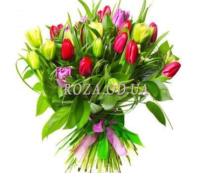 """""""Тюльпаны в зелени"""" в интернет-магазине цветов roza.od.ua"""