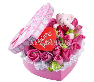 """Valentine card"" in the online flower shop roza.od.ua"