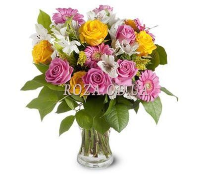 """Bright bouquet of flowers"" in the online flower shop roza.od.ua"