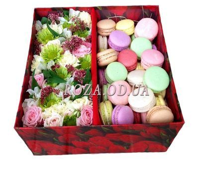 """Large box with macaroons"" in the online flower shop roza.od.ua"
