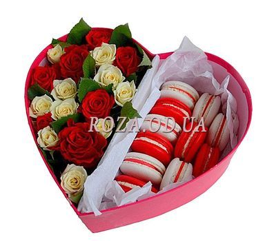 """Box with macaroons"" in the online flower shop roza.od.ua"