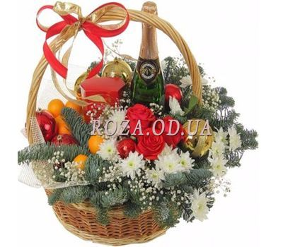 """Basket for the New Year"" in the online flower shop roza.od.ua"