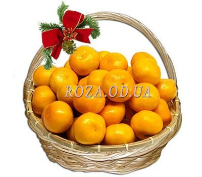 """Mandarins in the basket"" in the online flower shop roza.od.ua"