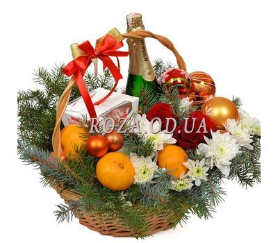 """From Santa Claus"" in the online flower shop roza.od.ua"