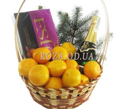 """Gift basket with mandarins"" in the online flower shop roza.od.ua"