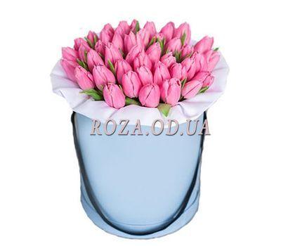 """""""Розовые тюльпаны в коробке"""" в интернет-магазине цветов roza.od.ua"""